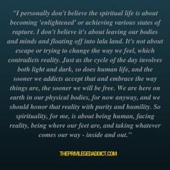Spirituality = Reality
