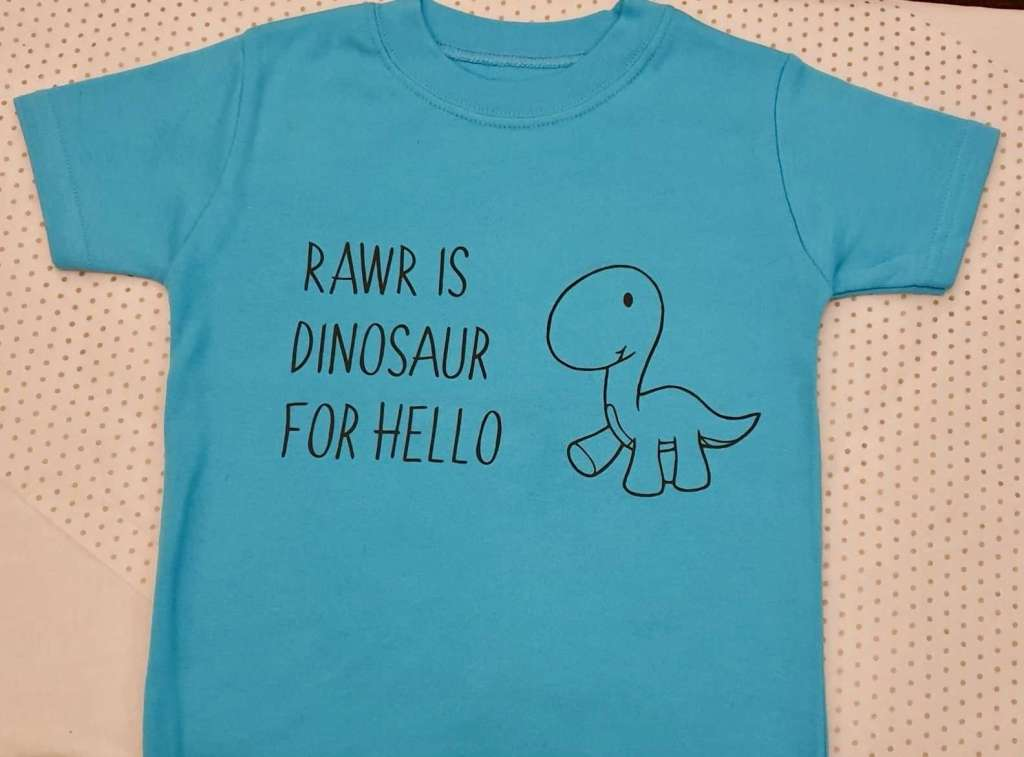 Rawr is dinosaur for hello
