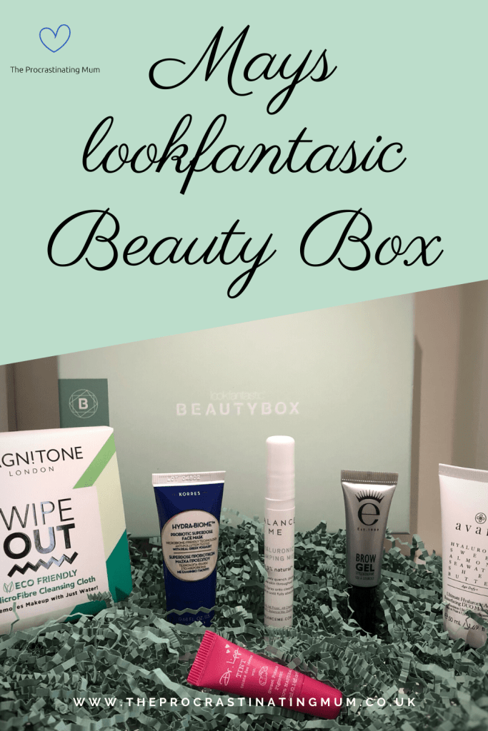 Mays lookfantasic Beauty Box Pinterest Pin