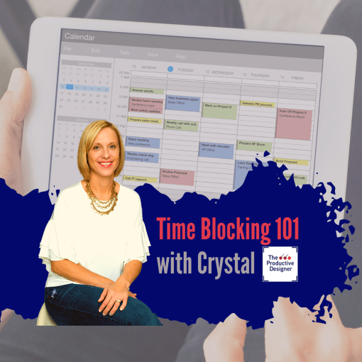 TPD host Crystal Collinson in episode titled time blocking