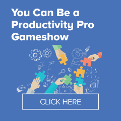 You Can Be A Productivity Pro Keynote Gameshow Laura Stack #productivity