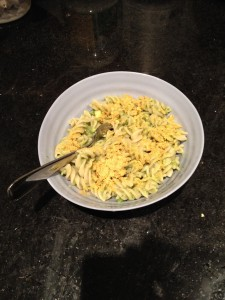 Check out this tasty low iodine diet friendly avocado pasta recipe from The Professional Mom Project