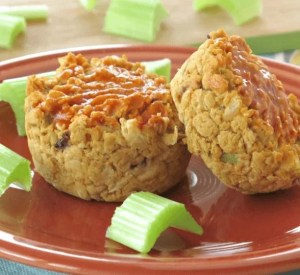 Meatless meatloaf muffins for a fun and healthy nut free vegetarian lunch idea