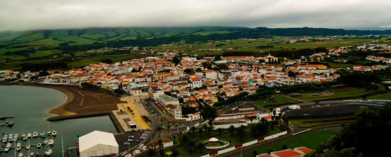 praia di vitoria from viewpoint azores holiday