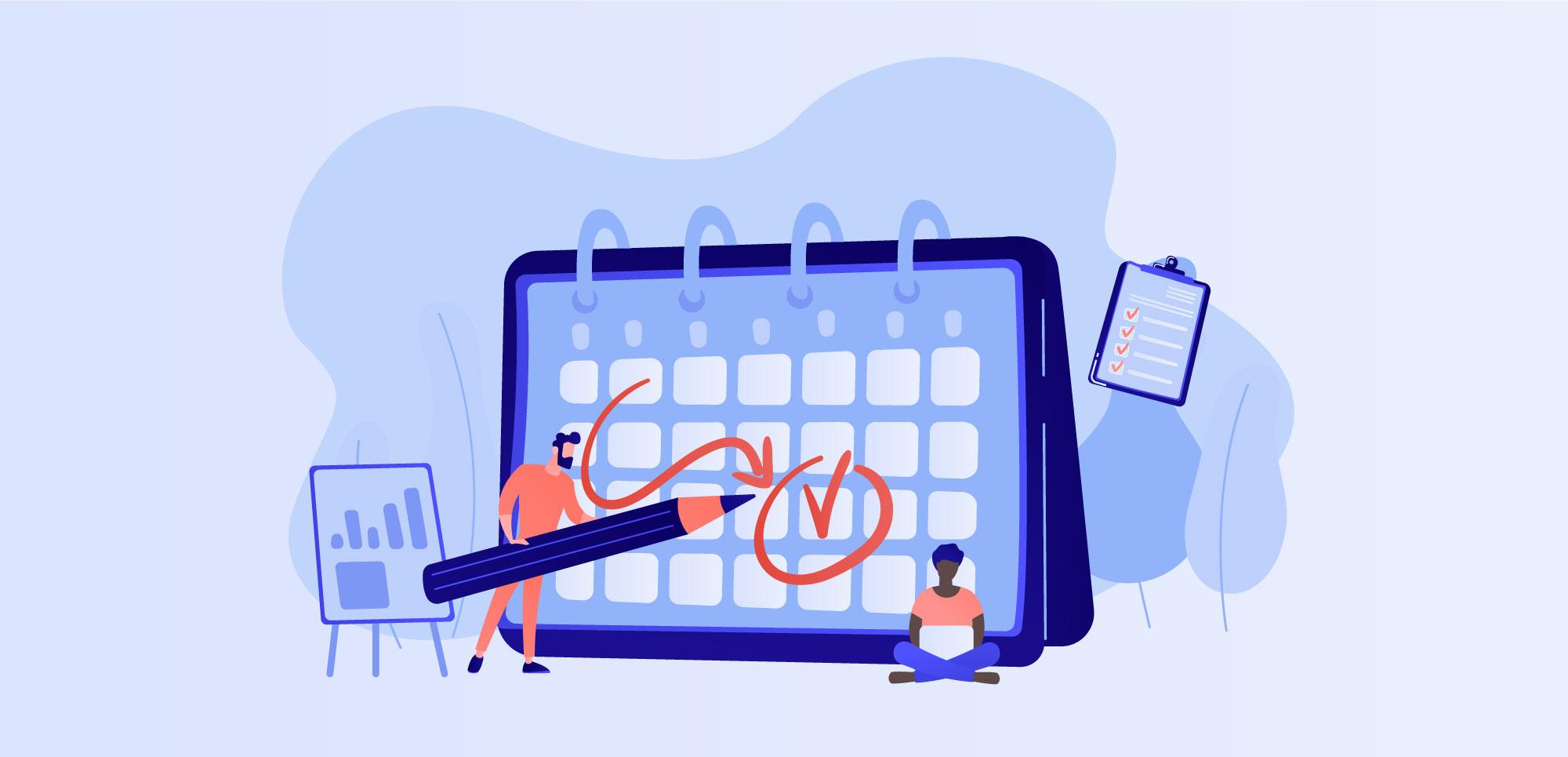 Illustration of tax deadline