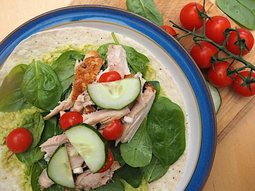 These super tasty chicken wraps are lightning fast to make for a healthy lunch - they're great for using up leftovers