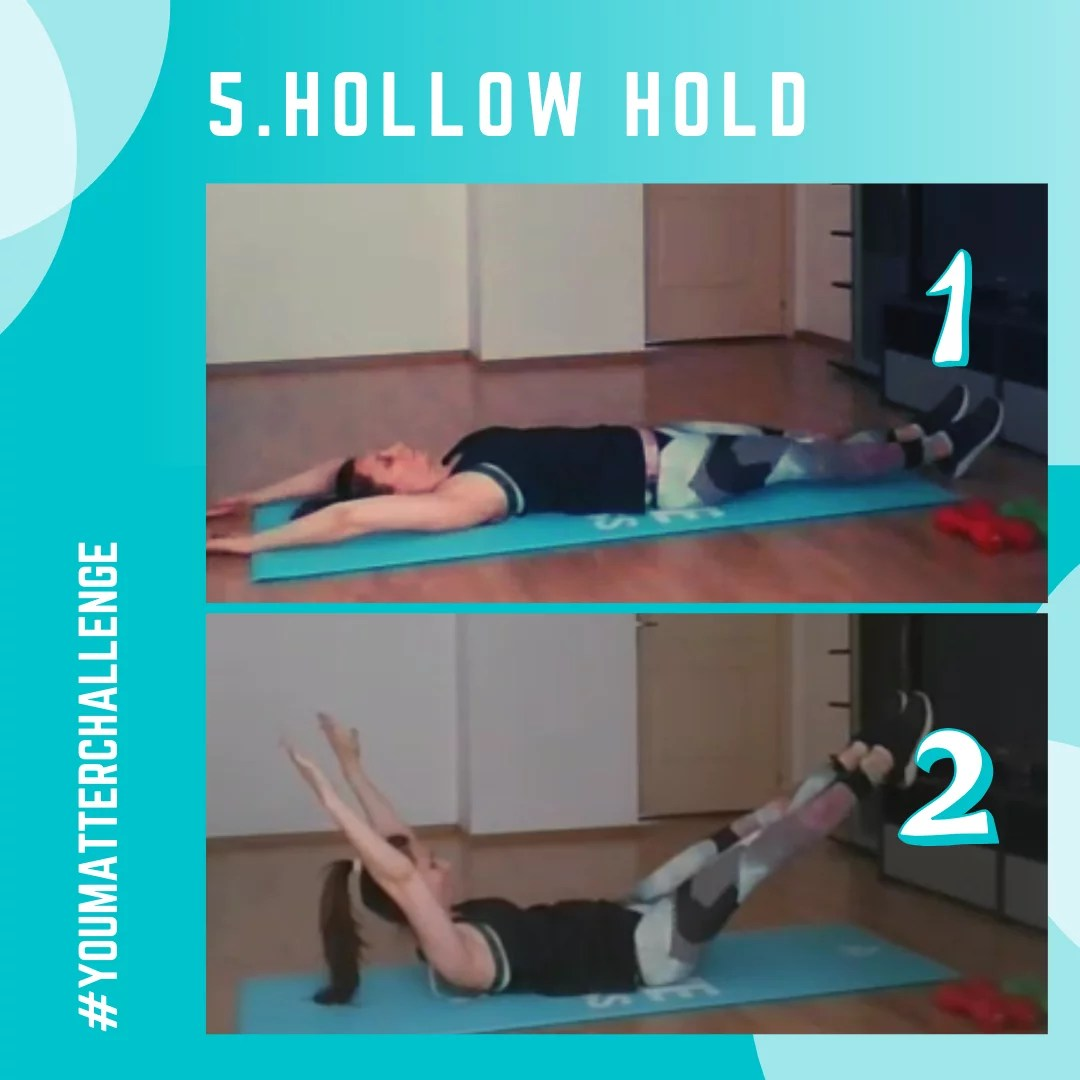 Full Body Workout Exercise 5 - Hollow Hold