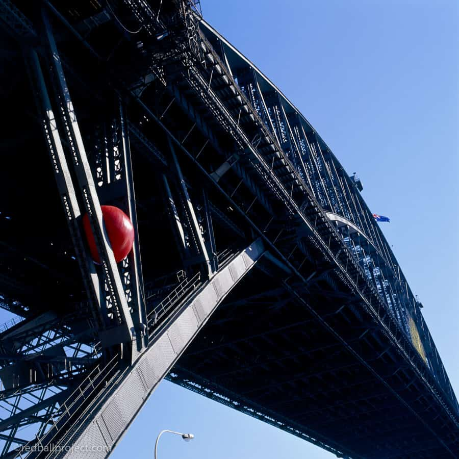 RedBall on Sydney Harbor Bridge