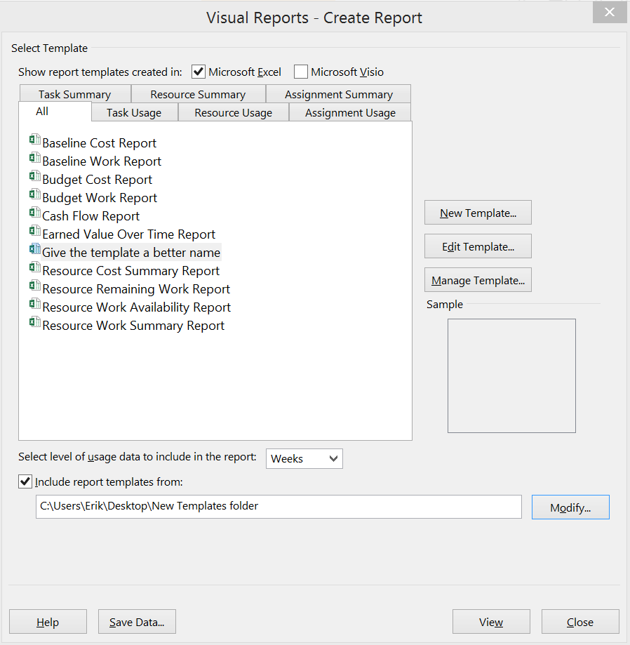 ms project 2013 report templates - updating the visual reports in ms project 2010 and 2013