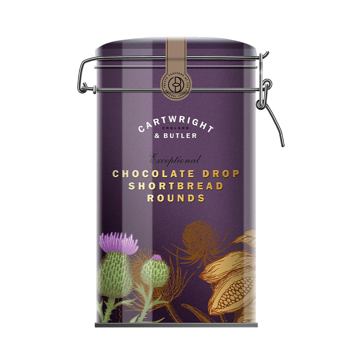 Cartwright and Butler Chocolate Drop Shortbread Rounds 200g