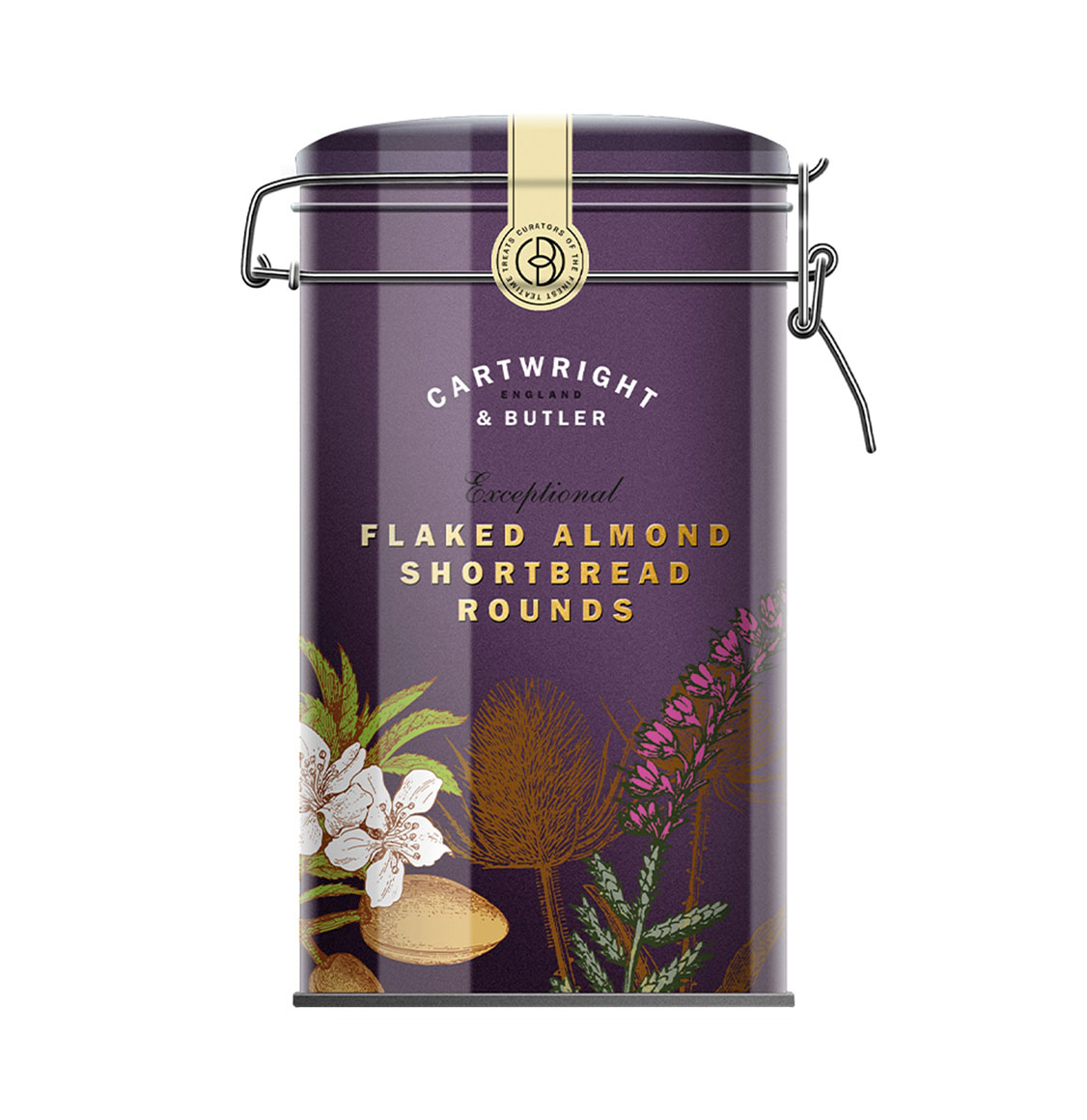Cartwright and Butler Flaked Almond Shortbread Rounds 200g