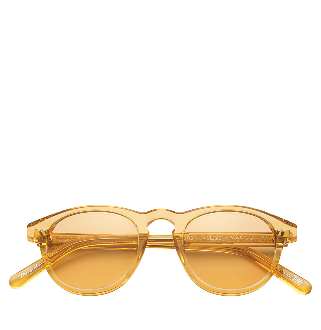 Chimi 002 Round Frame Mango Clear 46 Γυαλιά Ηλίου