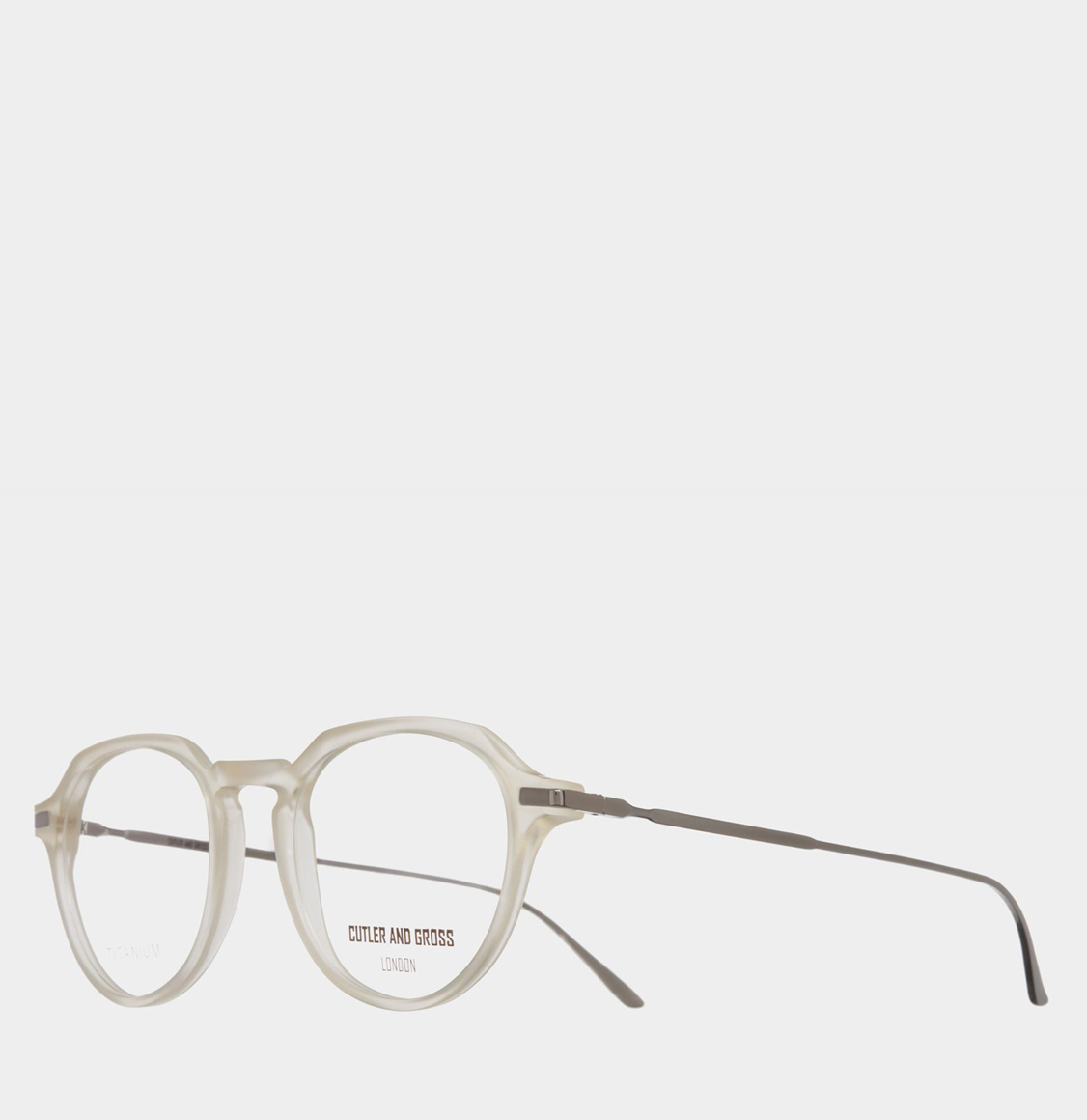 Cutler and Gross Round-Oval Frame Lemonade Acetate Optical Glasses