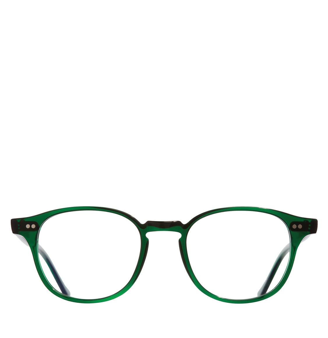 Cutler and Gross D-Frame Bottle Green Acetate Optical Glasses