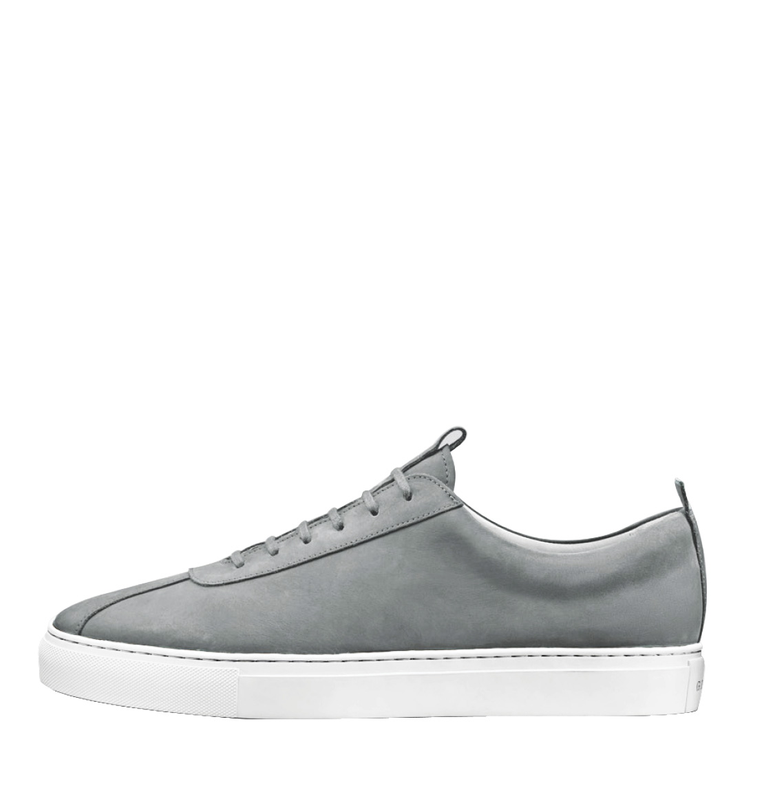Grenson Light Grey Suede Oxford Sneaker