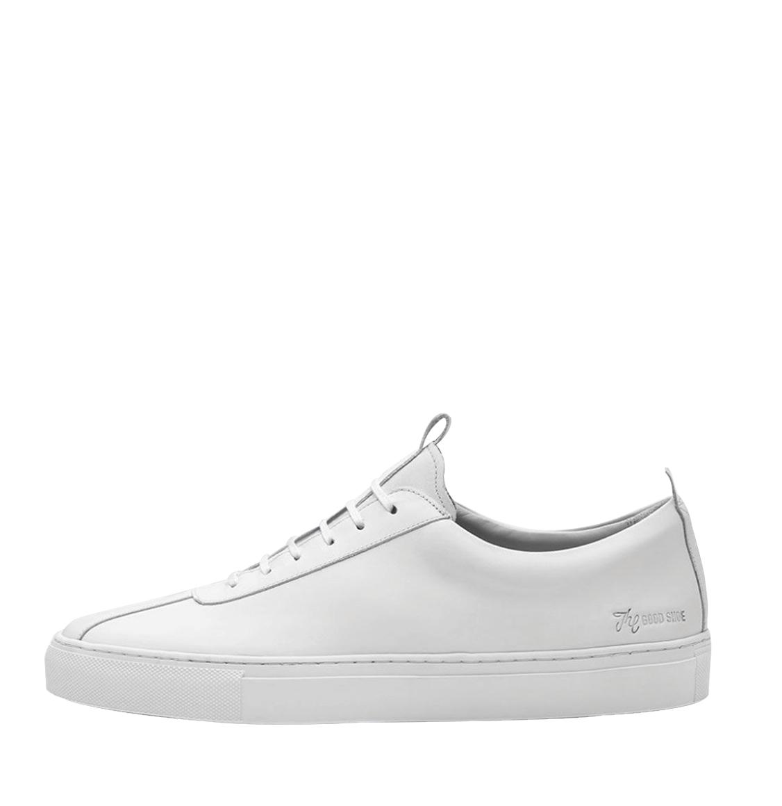 Grenson White Leather Oxford Sneaker