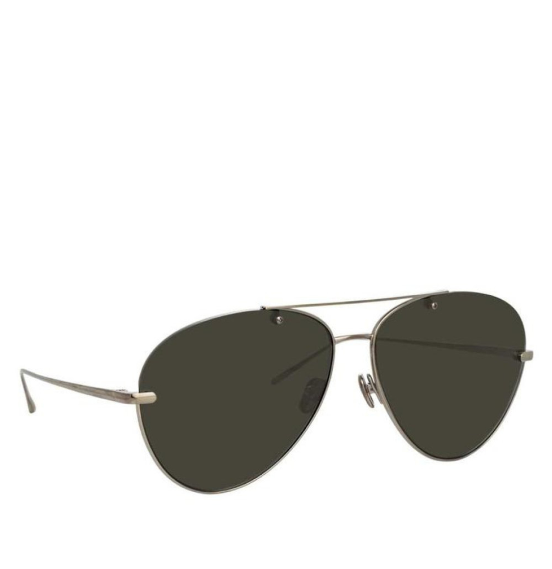 Linda Farrow 859 C7 Aviator White Gold-Plated 66 Γυαλιά Ηλίου