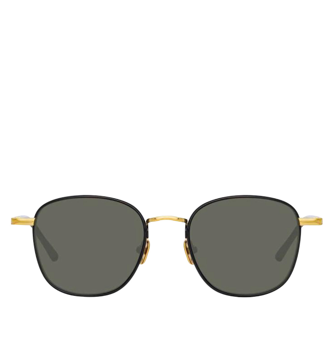 Linda Farrow 953 C1 Square Gold-Plated Βlack Italian Αcetate 49 Γυαλιά Ηλίου