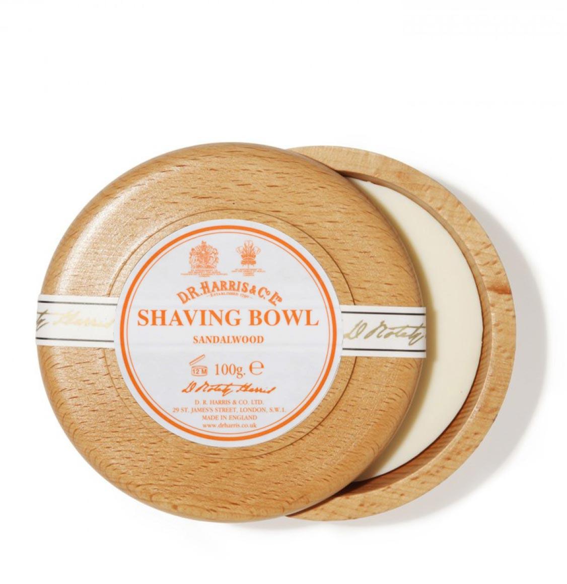 D R Harris Sandalwood Shaving Beech Bowl 100g