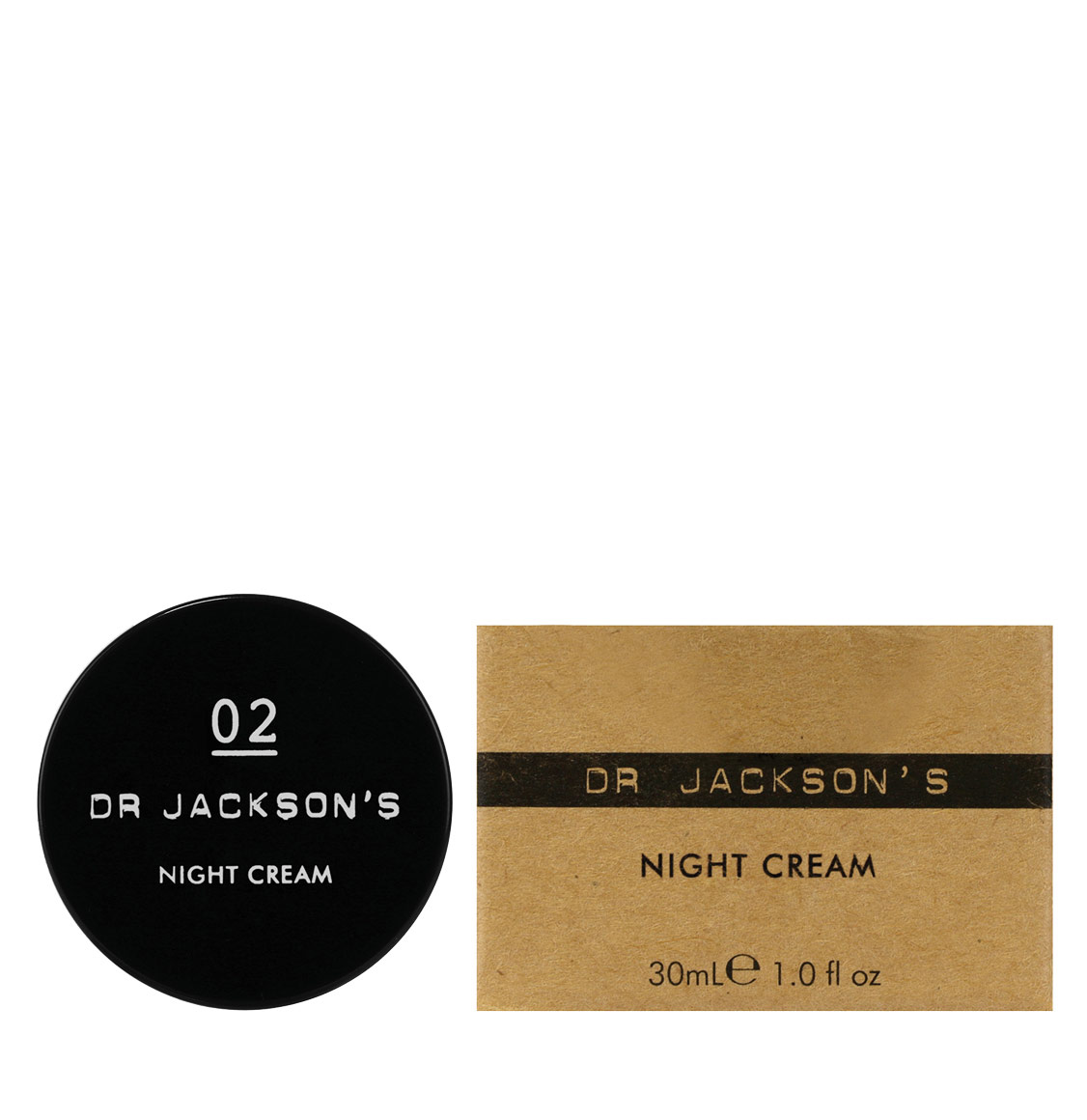 Dr Jacksons 02 Night Skin Cream Travel 30ml