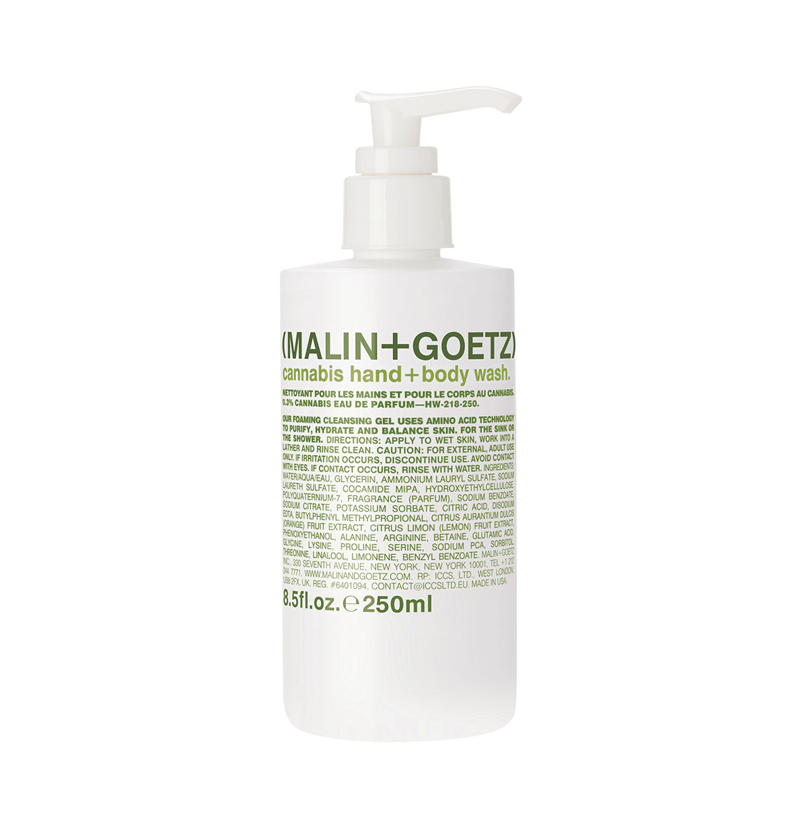 Malin and Goetz Cannabis Body Wash 250ml