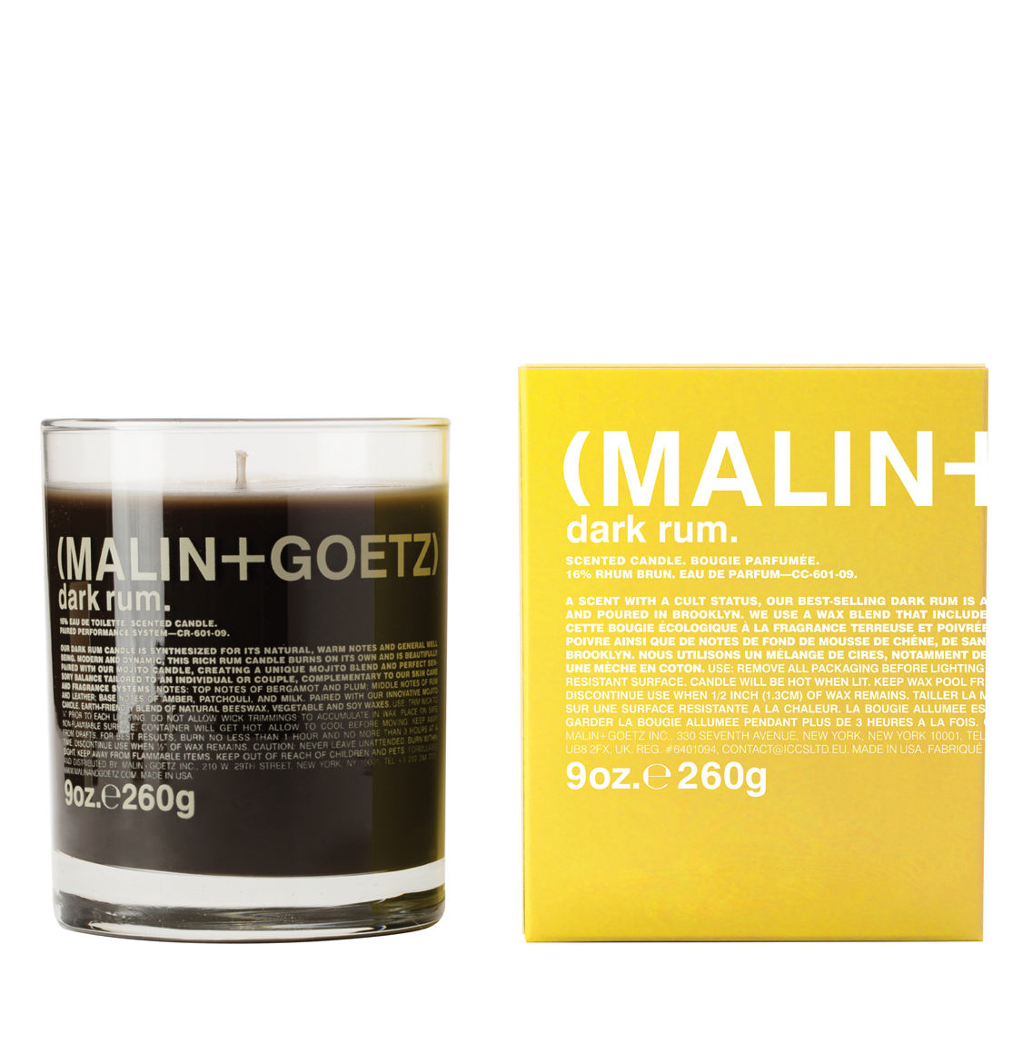 Malin And Goetz Dark Rum Candle 260g