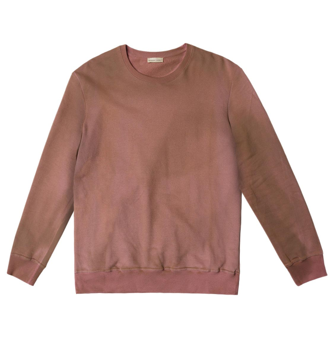 Acid Dye Organic Cotton Crew Neck Sweatshirt Dusty Pink