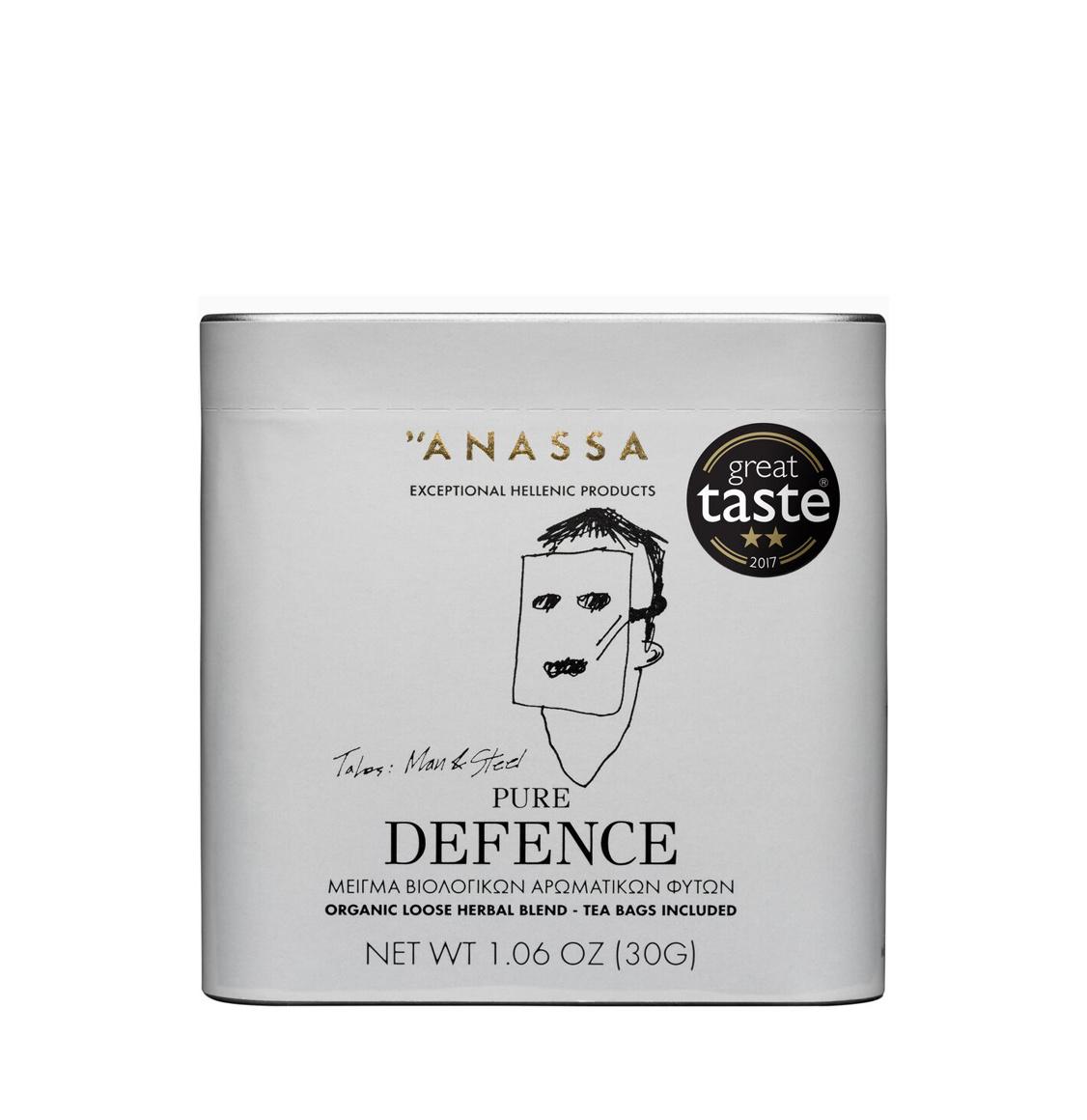Anassa Organics Pure Defence Tin Μείγμα Βιολογικών Βοτάνων