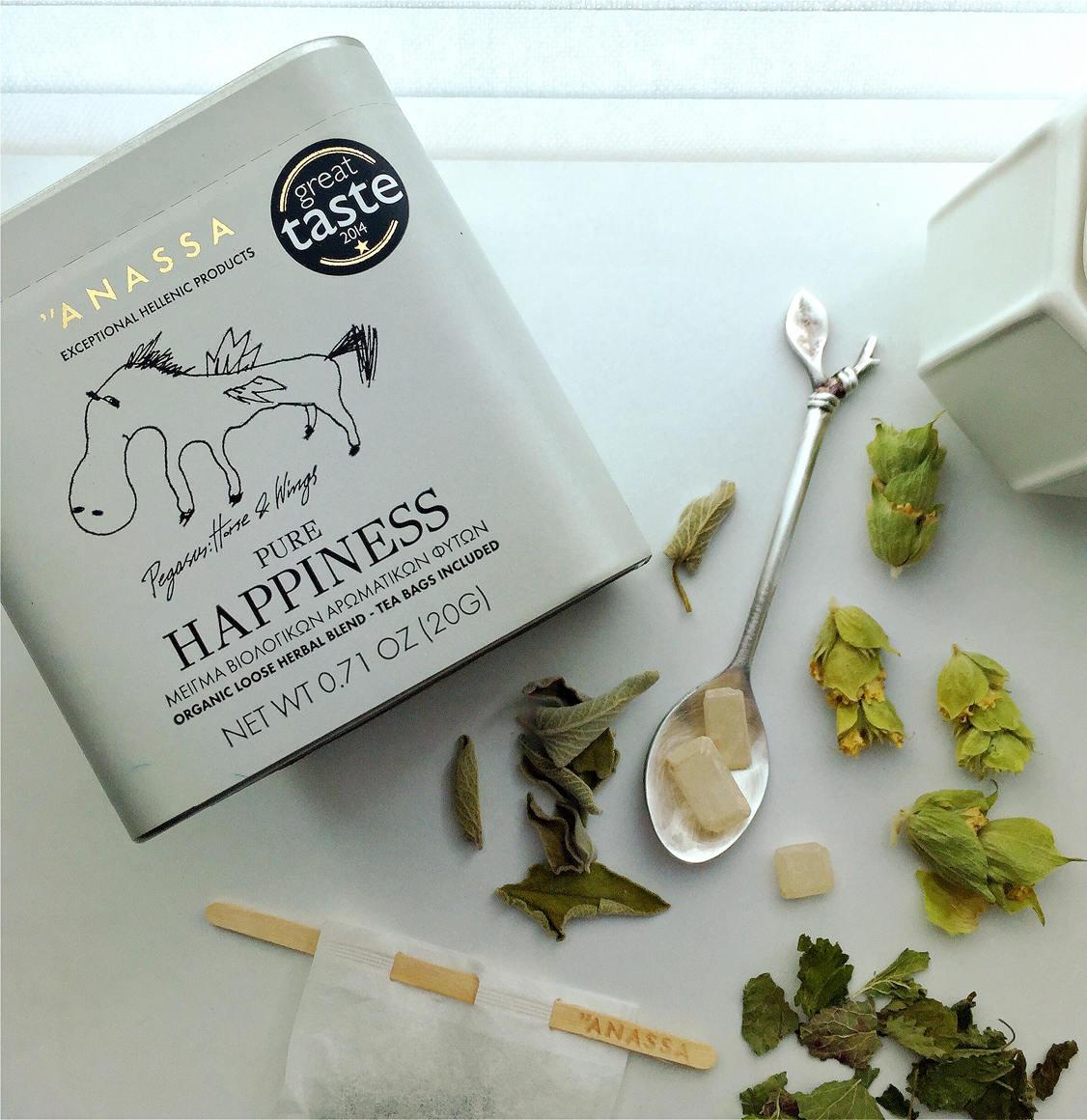 Anassa Organics Pure Happiness Tin Μείγμα Βιολογικών Βοτάνων