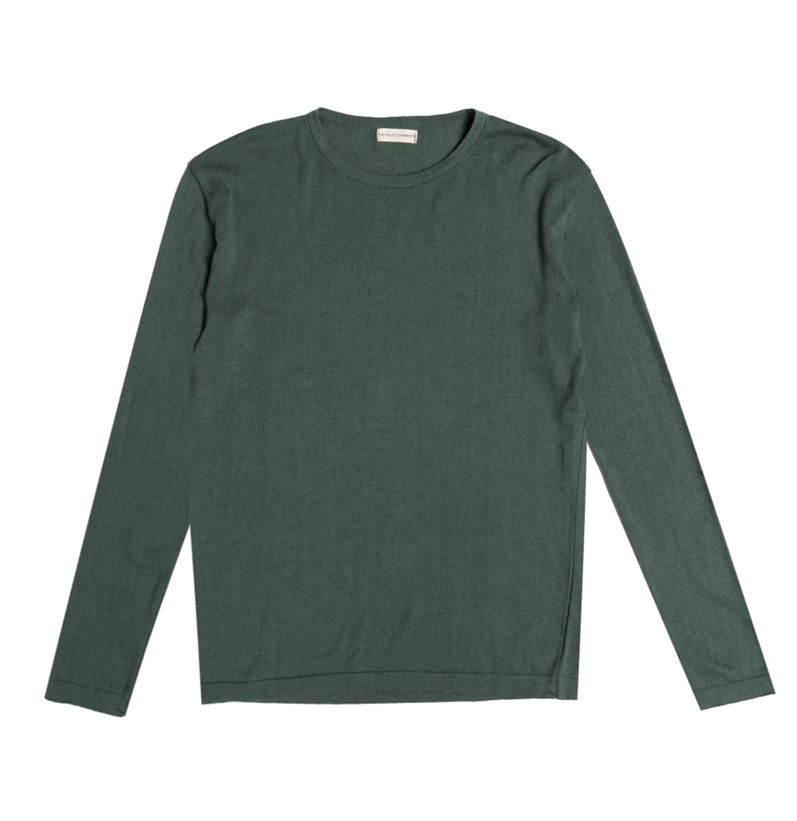 Cashmere Blend Crew Neck Knitted Sweater Forest Green