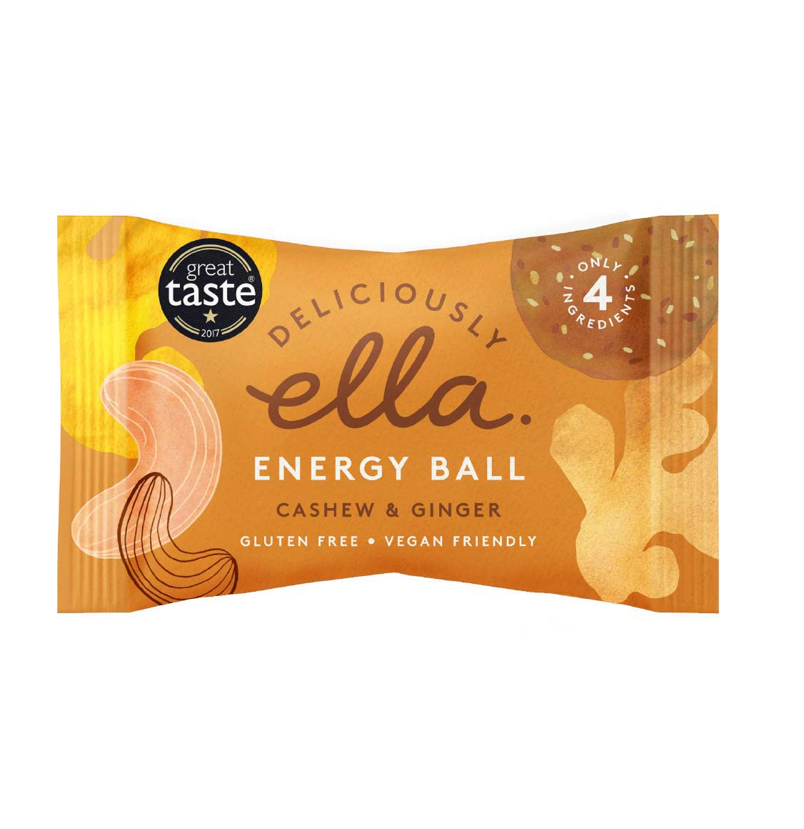 Deliciously Ella Cashew And Ginger Energy Ball 4 x 40g