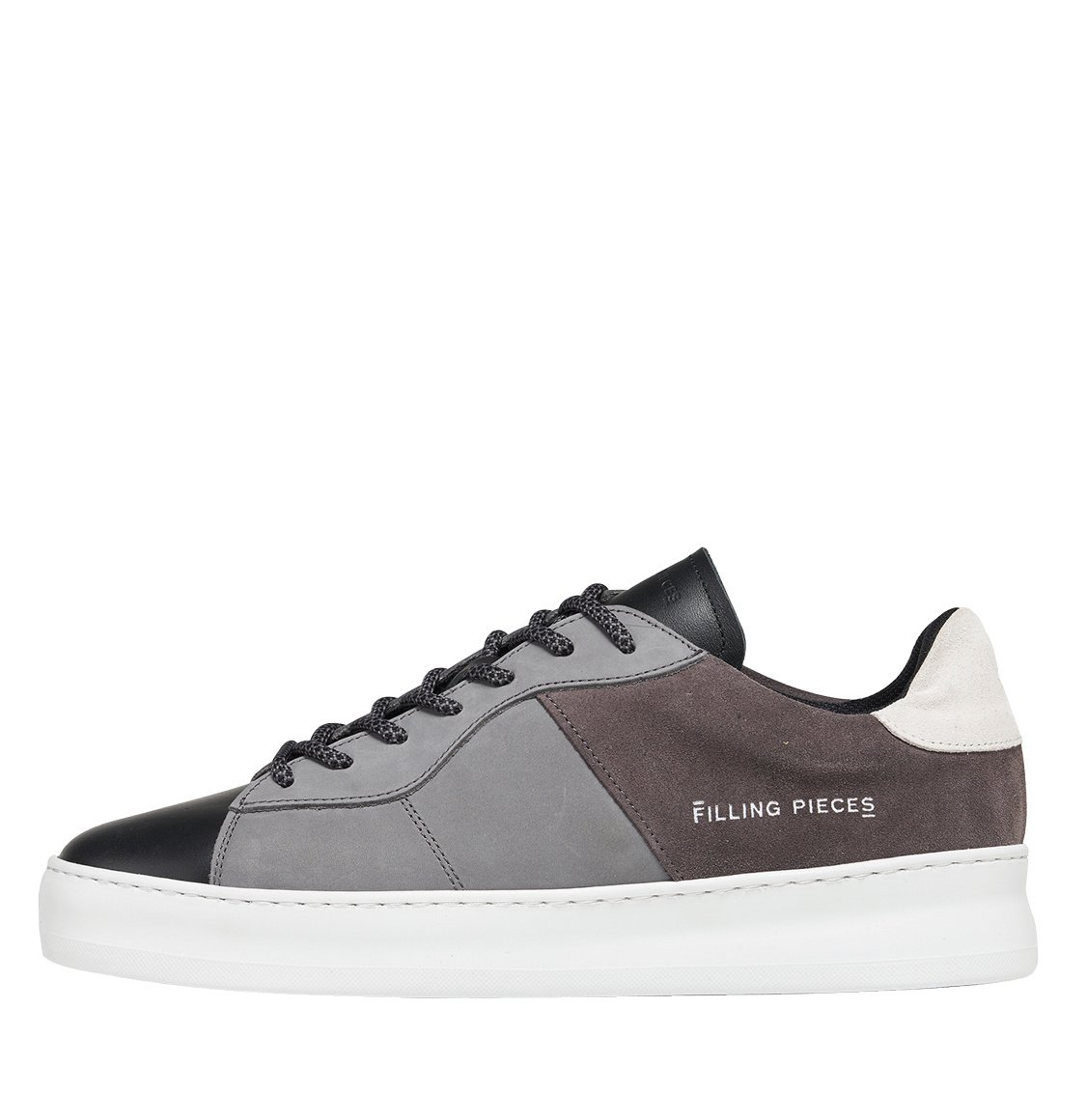 Filling Pieces Low Plain Court Black Grey