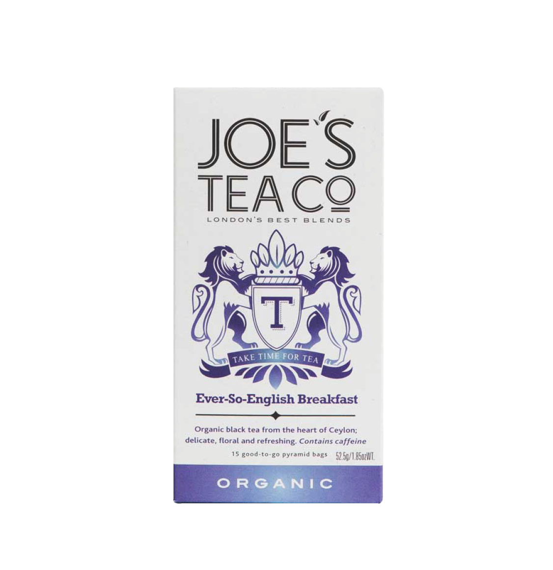 Joe's Tea Co Organic English Breakfast Tea Bags 52.5g