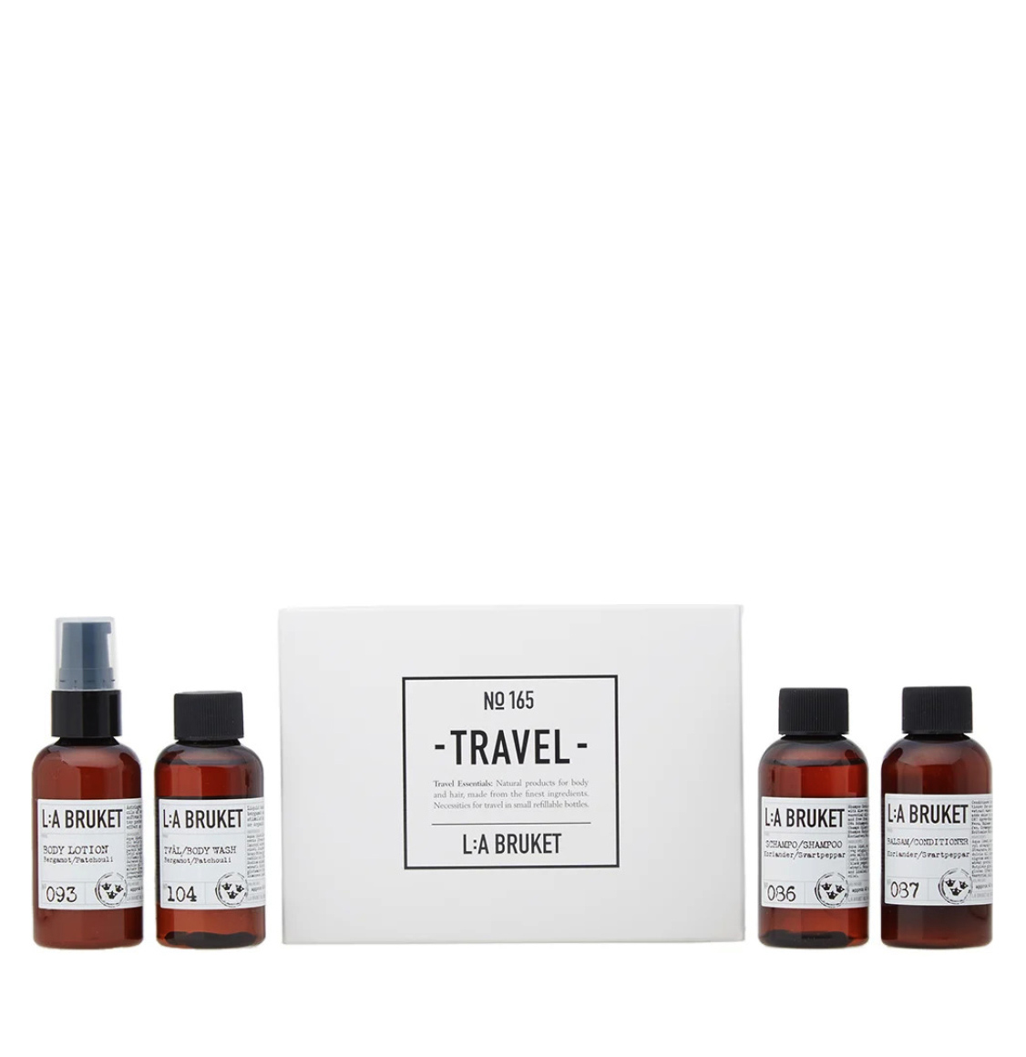 LA Bruket 165 Travel Kit 4 x 60 ml
