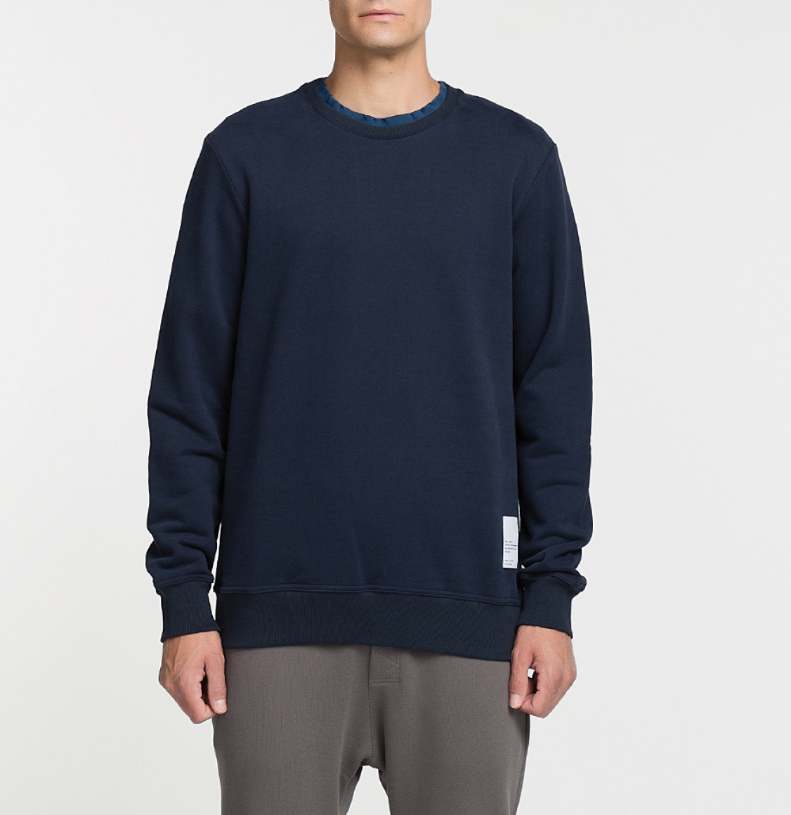 Logomania Crew Neck Sweatshirt Navy Blue