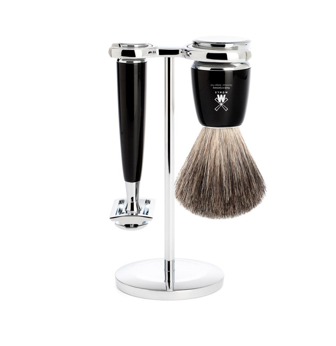 Muhle Rytmo Shaving Set Pure Badger Brush With Safety Razor