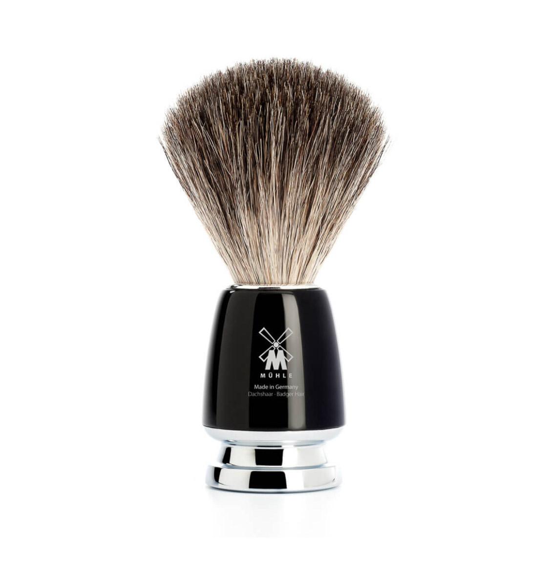 Muhle Rytmo Shaving Set Pure Badger Brush With Gillette Fusion Blade Razor and Bowl