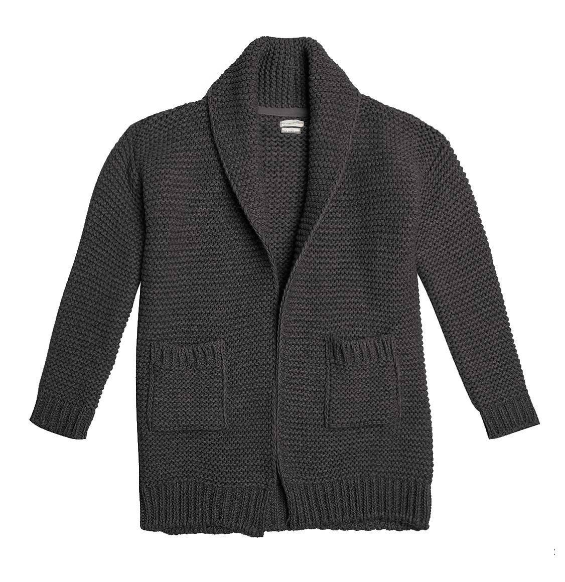 Oversized Shawl Collar Wool Blend Cardigan Taupe