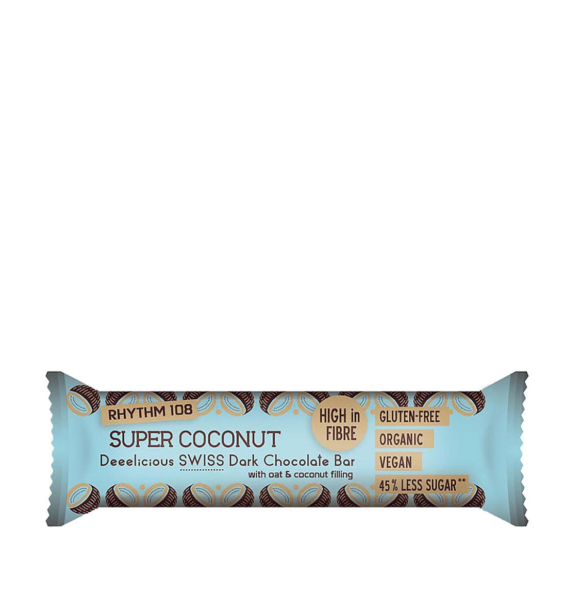 Rhythm 108 Swiss Dark Chocolate Coconut Bar 5 x 33g