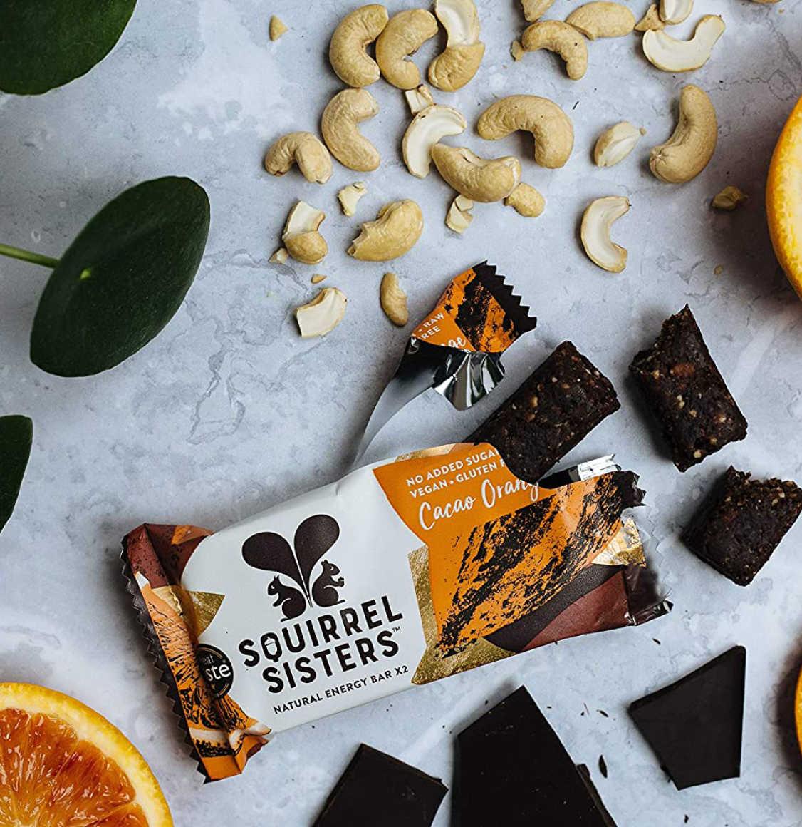 Squirrel Sisters Cacao Orange Bar 4 x 40g