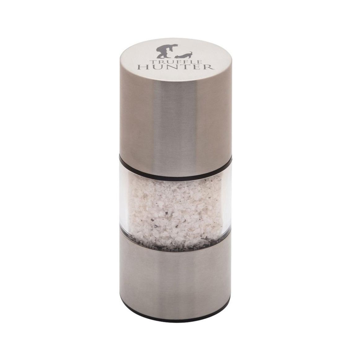 TruffleHunter Νιφάδες Αλατιού Με Μαύρη Τρούφα Σε Μύλο Flaked Black Truffle Sea Salt With Mill 40g