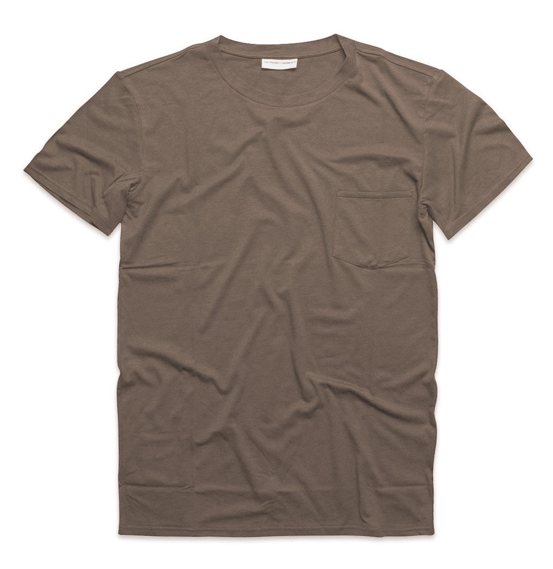 The Project Garments Crew Neck Modal-Blend Pocket T-shirt Taupe