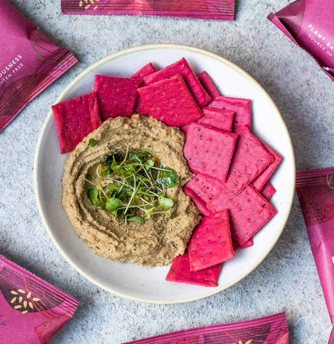 Deliciously Ella Beetroot And Multiseed Baked Veggie Crackers 100g