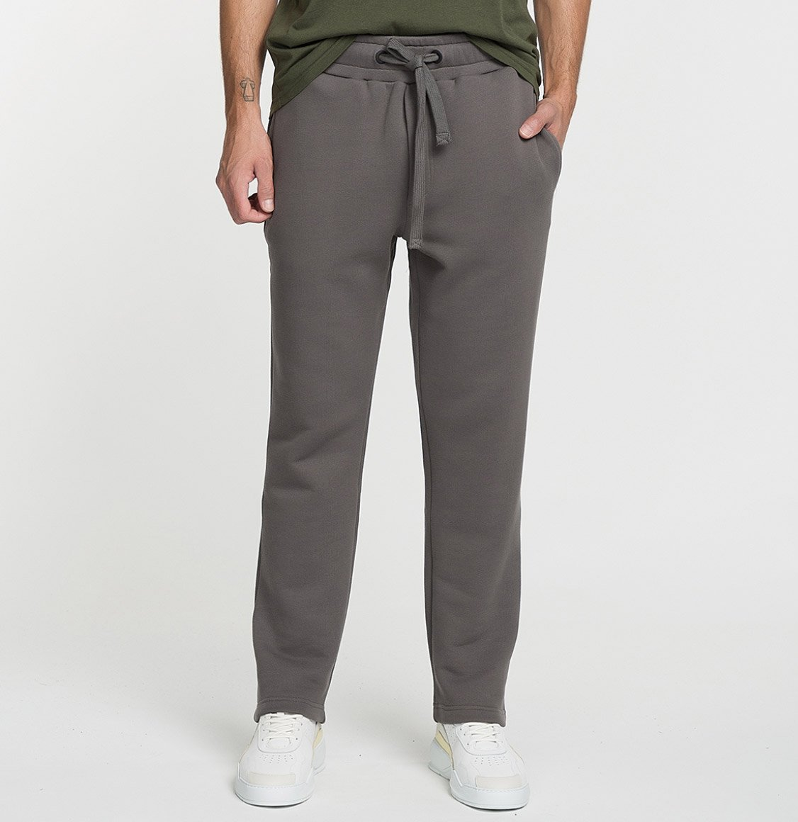 The Project Garments Loose Fit Cotton Sweatpants Moonrock Grey