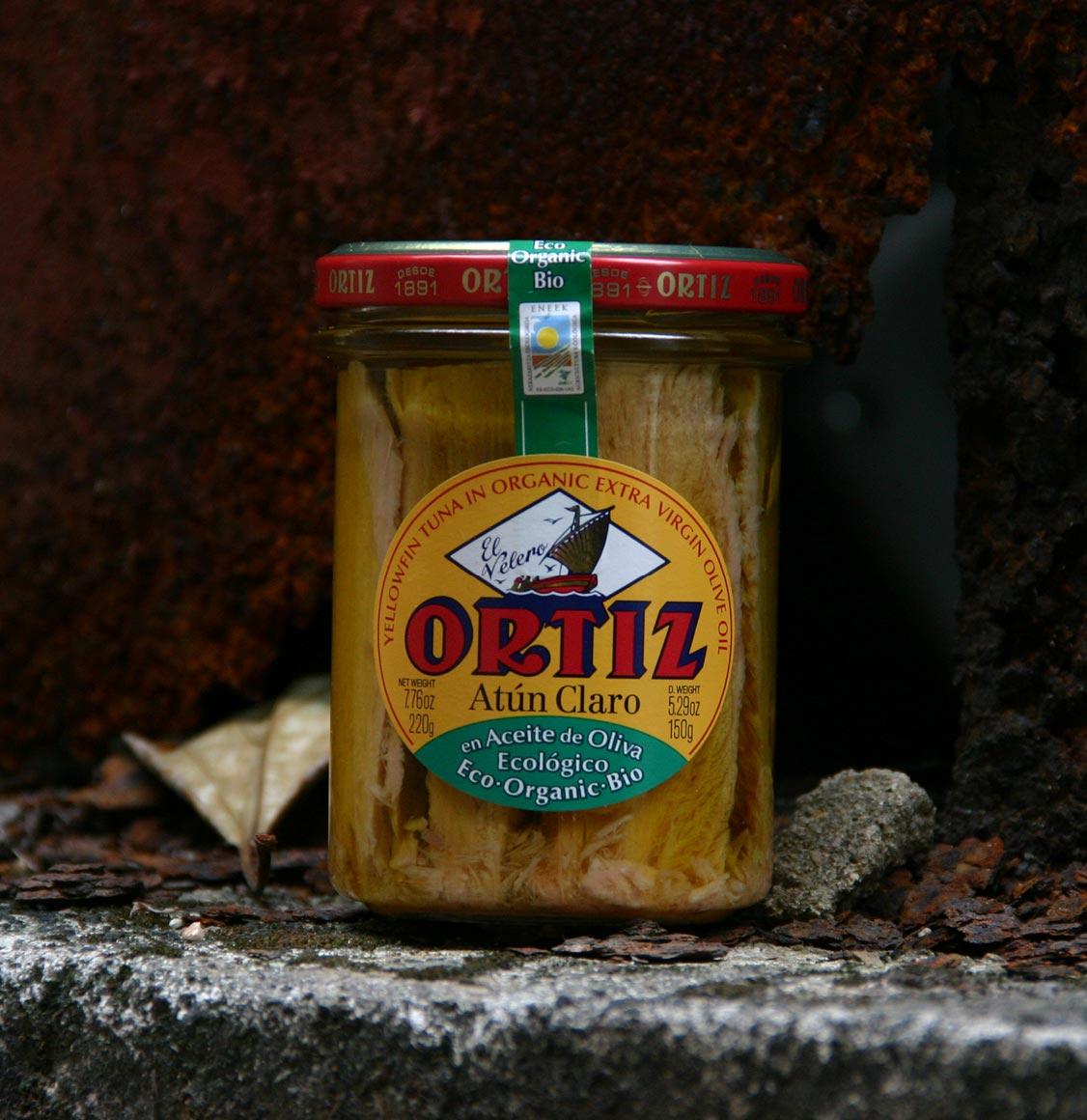 Ortiz Yellowfin Tuna In Organic Extra Virgin Olive Oil 220g