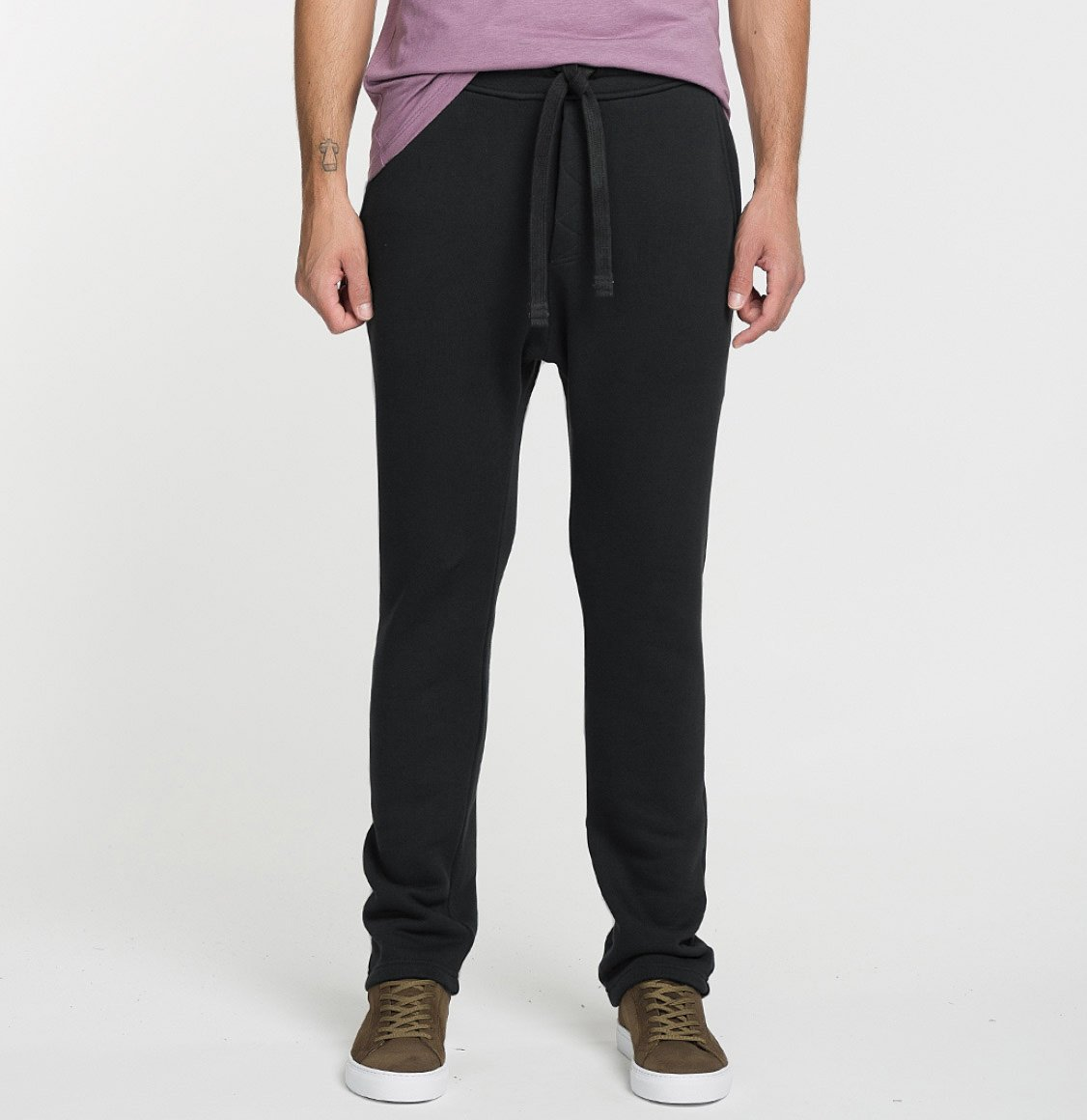 The Project Garments Tapered Loose-Fit Organic Cotton Sweatpants Meteorite Grey
