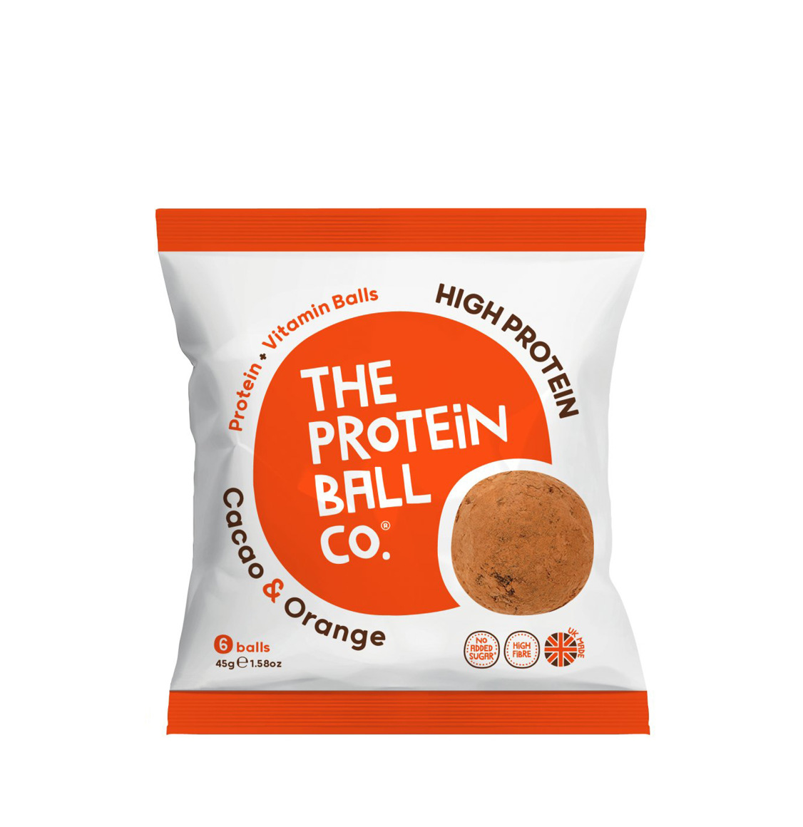 The Protein Ball Co. Cacao And Orange High Protein Balls 45g
