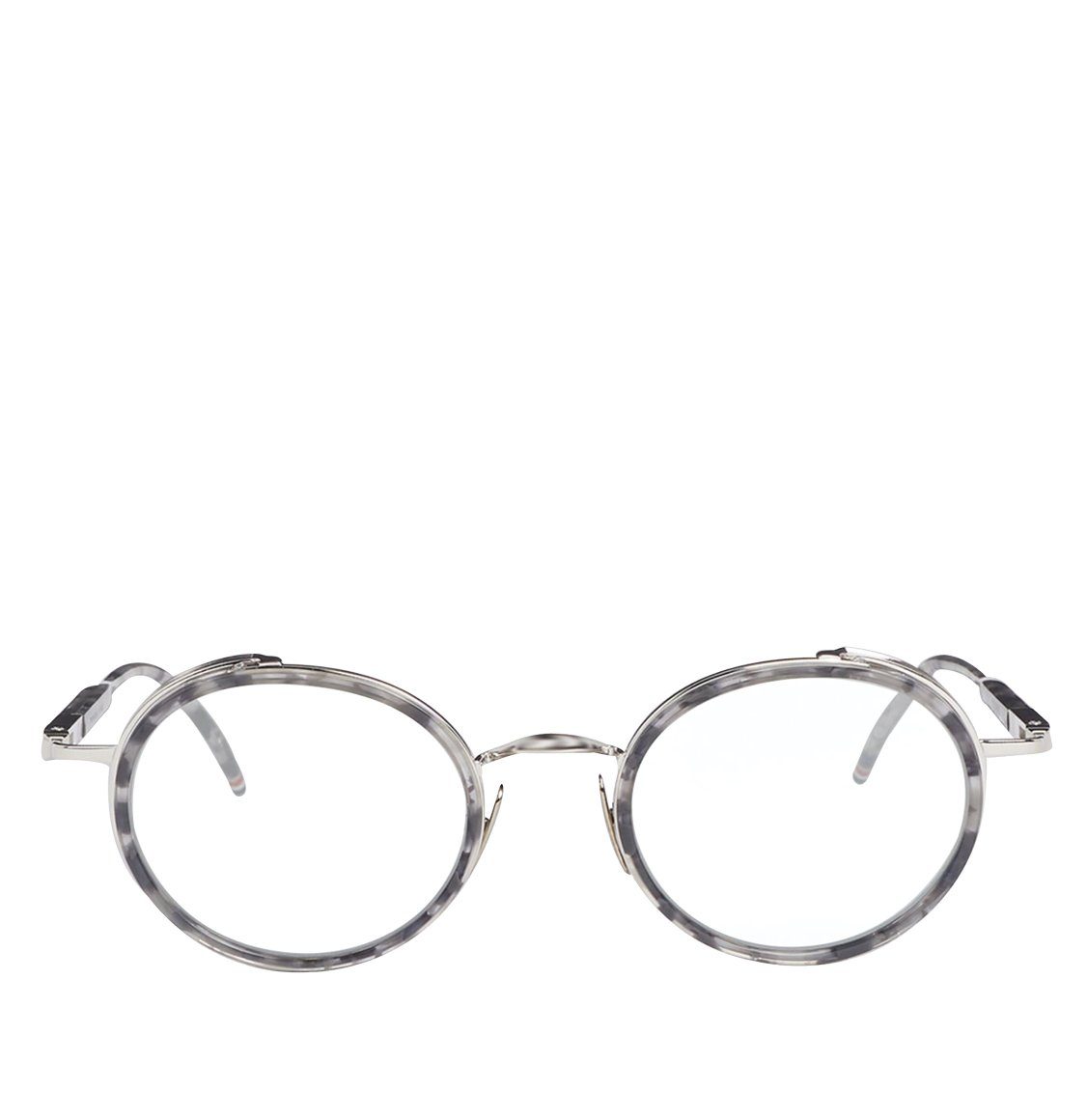 Thom Browne Grey And Silver Round Optical Glasses Γυαλιά Οράσεως