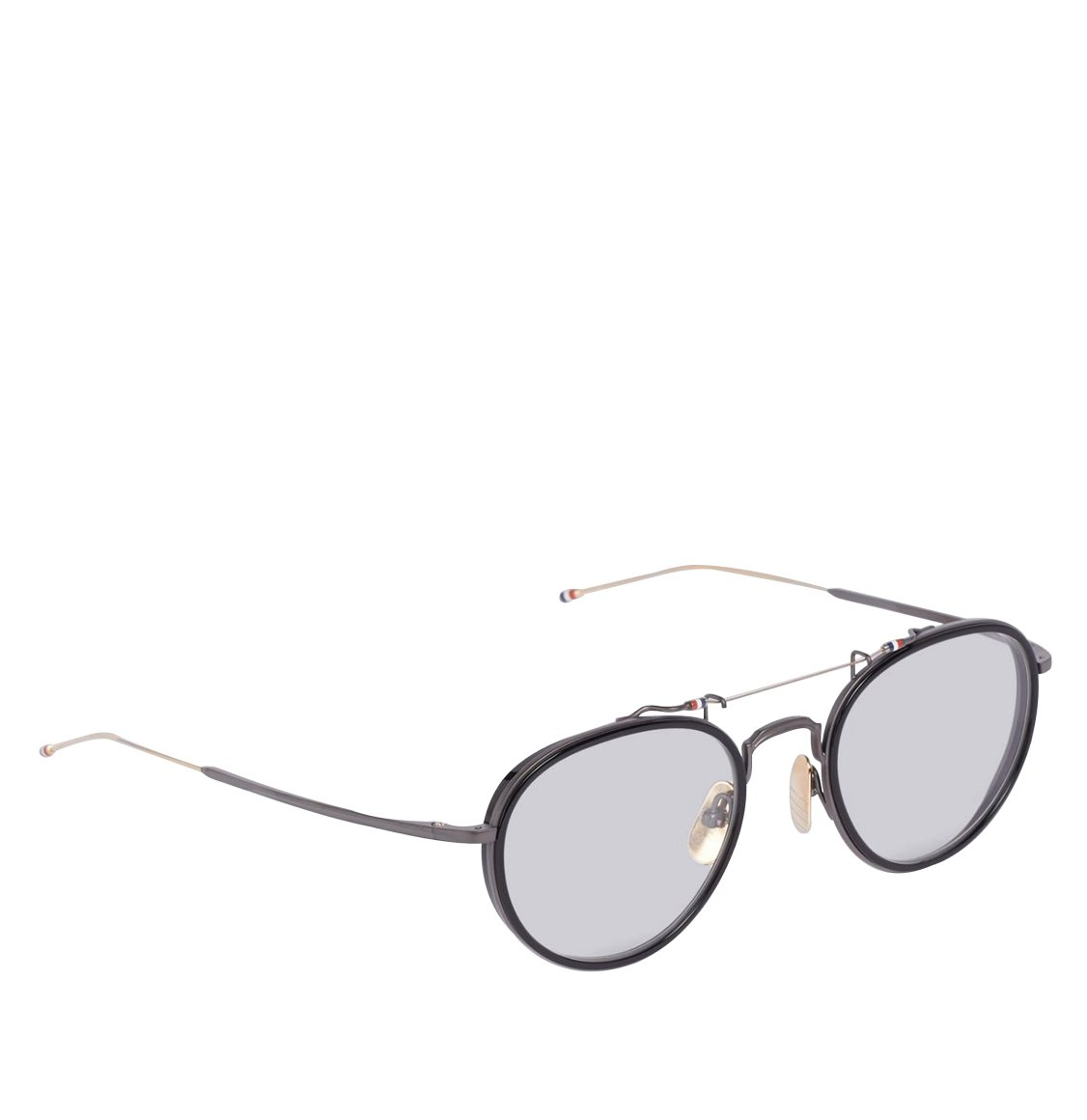 Thom Browne Black And Gold Oval Sunglasses Γυαλιά Ηλίου
