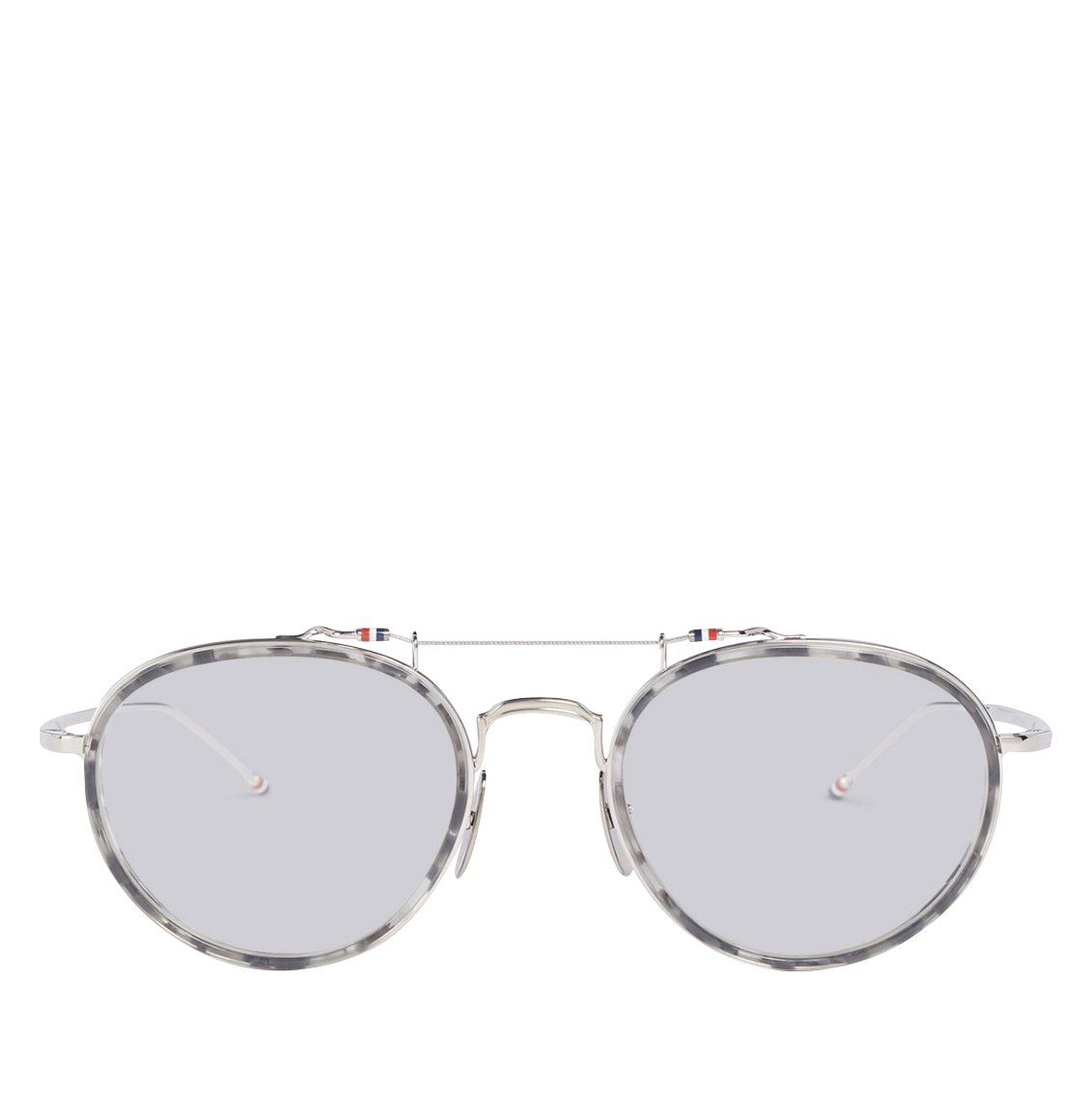 Thom Browne Grey Tortoiseshell Oval Sunglasses Γυαλιά Ηλίου